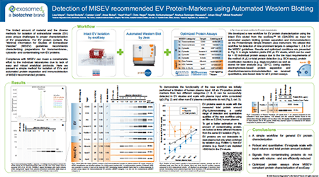 Detection of mISEV Recommended EV Protein-Markers Using Automated Western Blotting Poster